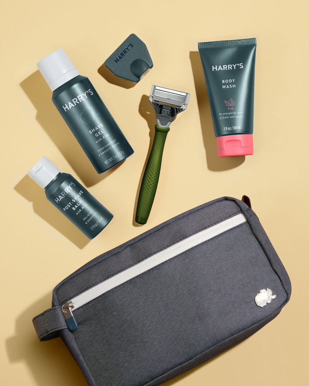 Deluxe Travel Kit - Olive Handle, Fig Body Wash
