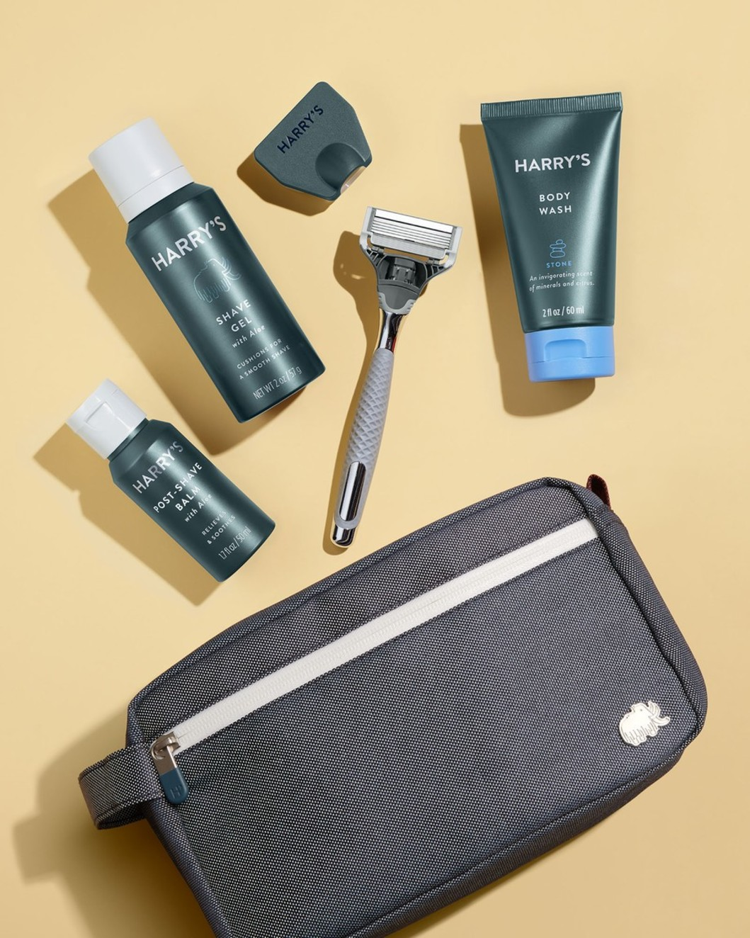 Deluxe Travel Kit - Winston Handle, Stone Body Wash