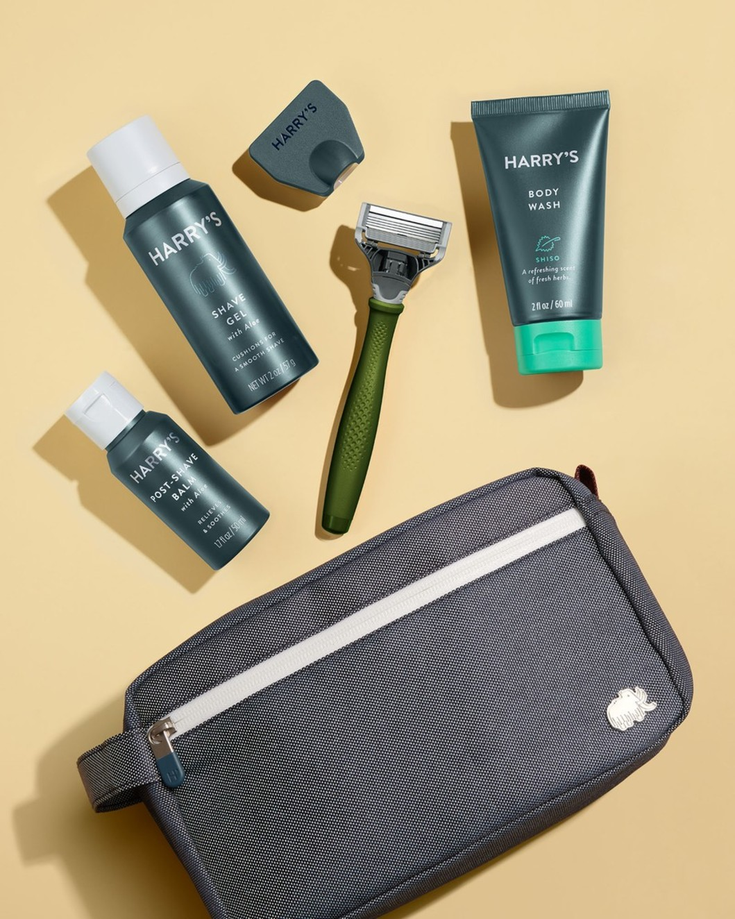 Deluxe Travel Kit - Olive Handle, Shiso Body Wash