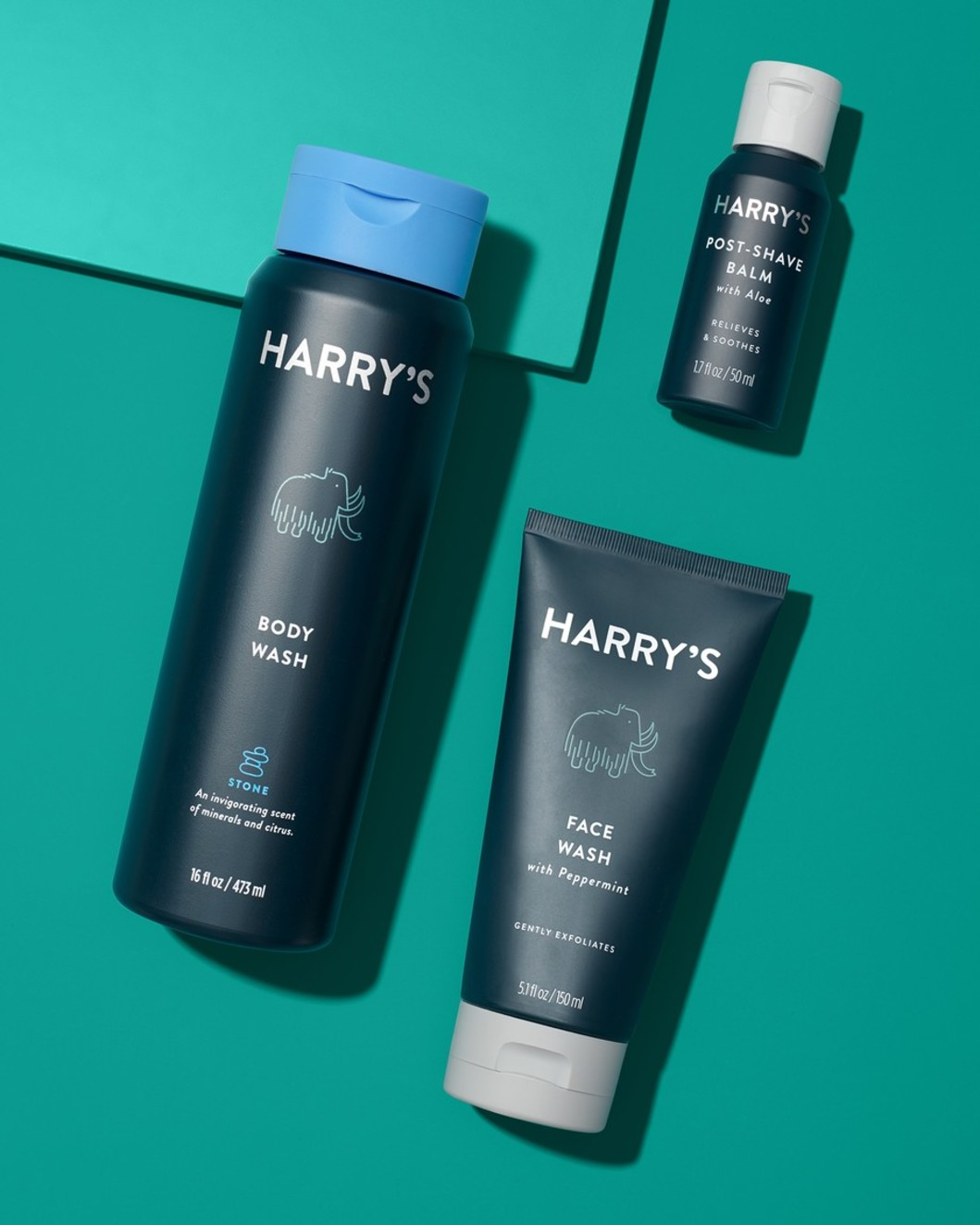 Stone Body Wash, Face Wash and Post-Shave Balm
